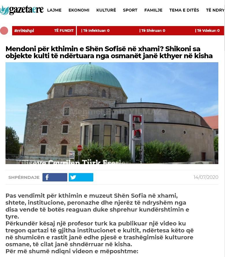 Kiliseye Çevrilen Türk Eserleri gazete haberleri (11)