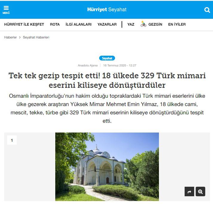 Kiliseye Çevrilen Türk Eserleri gazete haberleri (13)