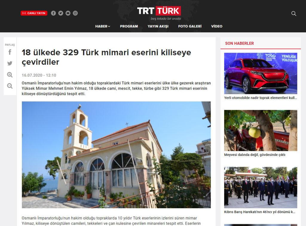 Kiliseye Çevrilen Türk Eserleri gazete haberleri (18)