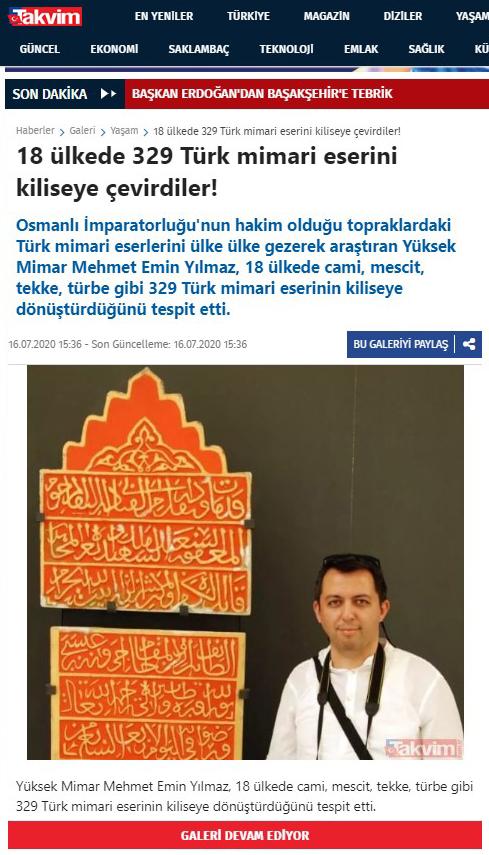 Kiliseye Çevrilen Türk Eserleri gazete haberleri (21)