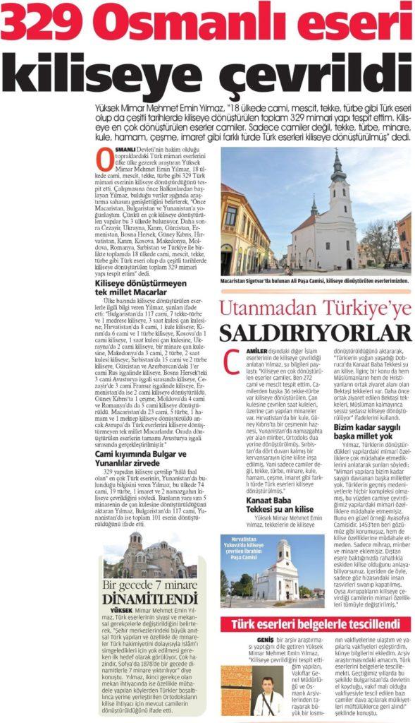 Kiliseye Çevrilen Türk Eserleri gazete haberleri (26)