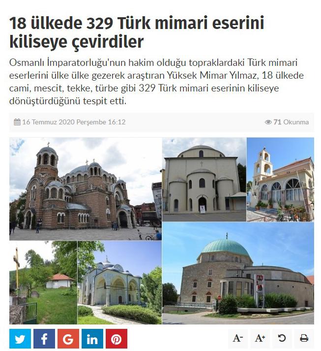 Kiliseye Çevrilen Türk Eserleri gazete haberleri (6)