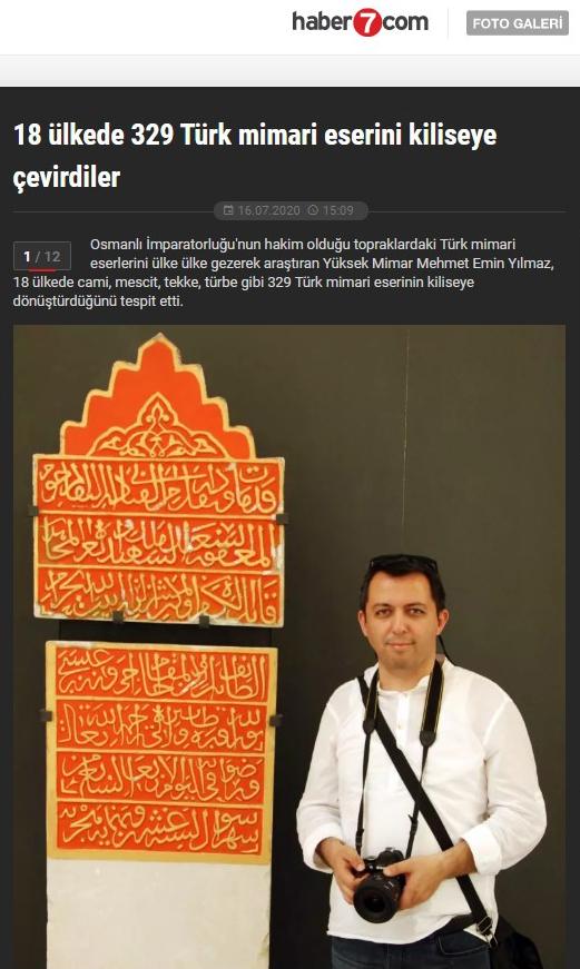 Kiliseye Çevrilen Türk Eserleri gazete haberleri (7)